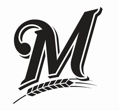 Brewers Milwaukee Stencil Pumpkin Mlb Brewer Logos
