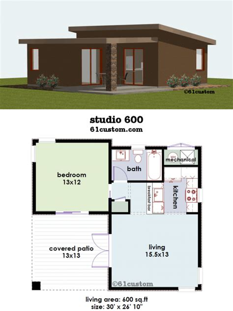 studio600: Small House Plan 61custom Contemporary