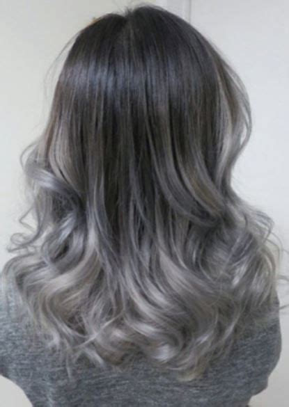 ash blonde  silver ombre hair images