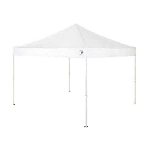 shop ez   ft    ft  square white steel pop  canopy  lowescom