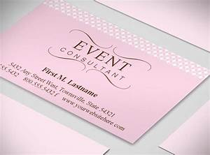 Wedding planner business cards event coordinator for Event planning business cards