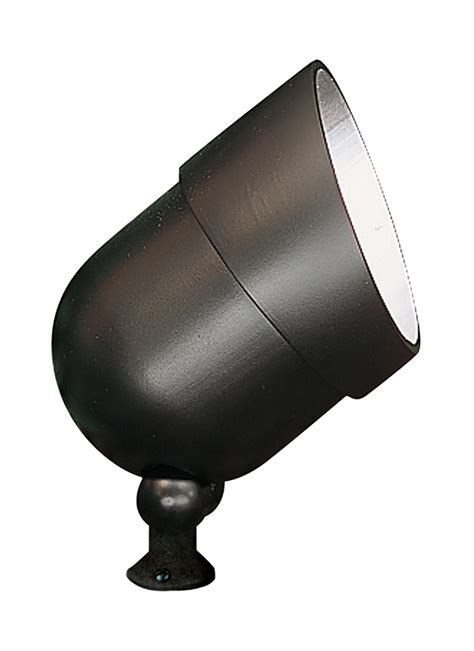 9313 12 120 volt die cast landscape accent light black