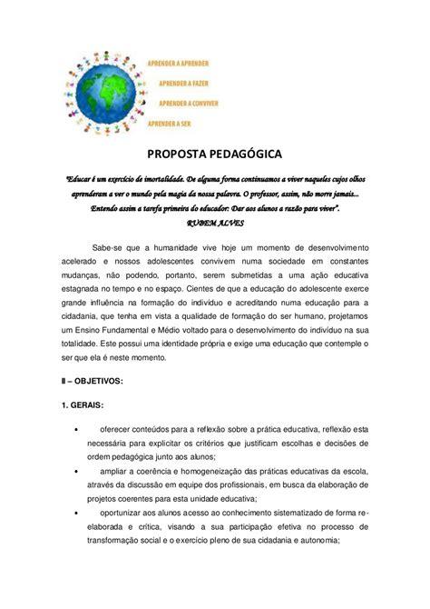 modelo proposta pedagogica