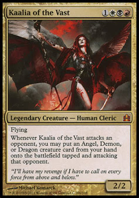kaalia of the vast commander deck commander tech kaalia of the vast