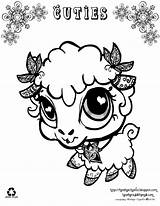 Coloring Pages Animal Cuties Pet Coloing Lamb Newer Older sketch template