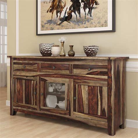 frisco modern rustic solid wood glass door  drawer