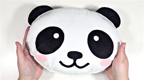 diy kawaii peluche cojin de panda  fieltro facil youtube