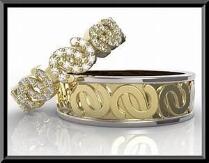 two tone diamond wedding ring set vidar jewelry unique With two tone diamond wedding ring sets