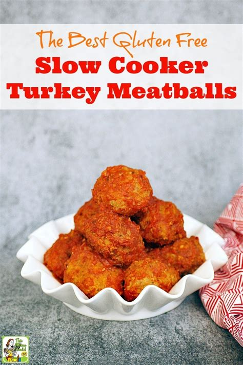 The Best Gluten Free Slow Cooker Turkey Meatballs Ever