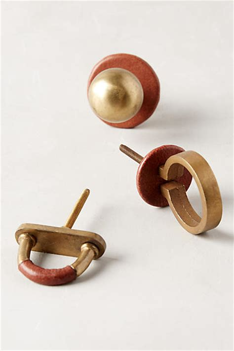 anthropologie knobs and pulls nib anthropologie equestrian knob drawer pull arch leather