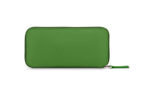 Zip around leather wallet case for iPhone 11 - Light Green ...