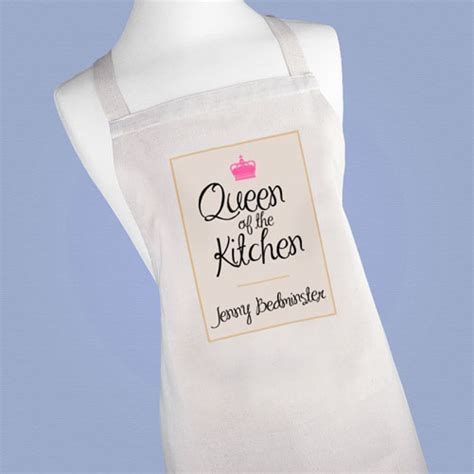 Personalised Queen of the Kitchen Apron   Treat Republic