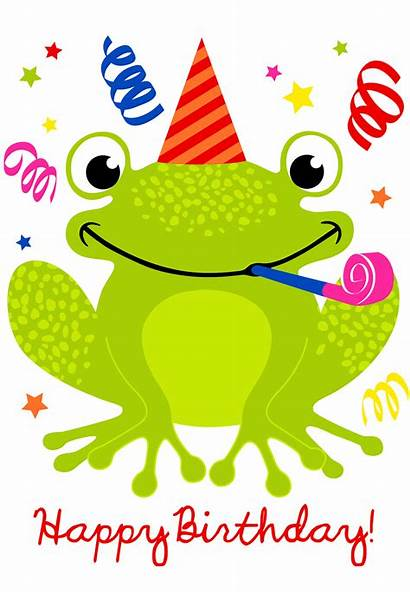 Birthday Happy Cards Card Greetings Island Frog