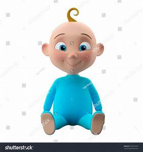 3d Funny Character Sweet Blueeyed Baby Stock Illustration ...