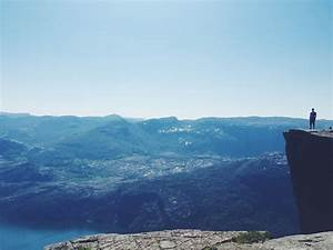 Hiking Pulpit Rock, Norway