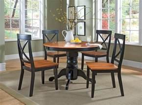 home styles 5 piece round pedestal dining set by oj