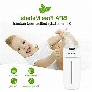 Portable Mini Humidifier  Small Cool Mist With Night