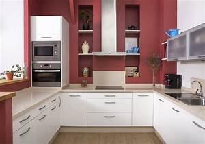 mur colore nos inspirations pour un interieur haut en With kitchen colors with white cabinets with papier peint brique grise