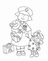 Coloring Nurse Preschool Lil Printable Colouring Sheets Stamps Digi Dearie Dolls Sheet Yooper Getcolorings sketch template