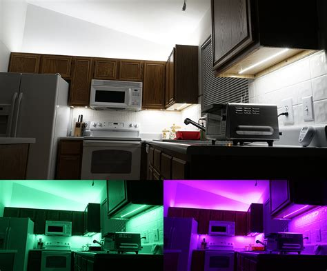 led counter lights above cabinet and cabinet led lighting how to