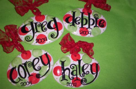 personalized christmas ornament polka dot fun
