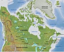 Valley Area of low land between hills or mountains  Canada Physical Map