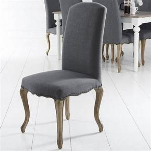 Pair, Of, Lancelot, Studded, Back, Dining, Chair, Grey