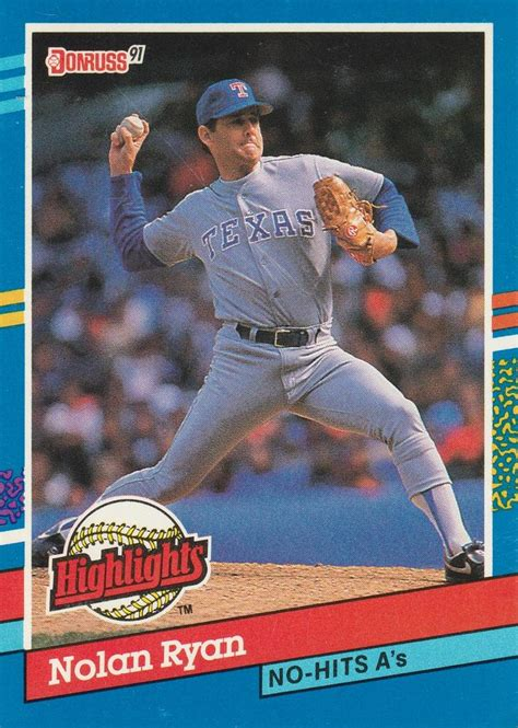 Maybe you would like to learn more about one of these? 1991 Donruss - Bonus Cards #BC-3 Nolan Ryan | Trading Card Database