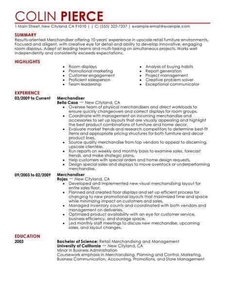 Retail Sales Representative Resume by Best Merchandiser Retail Representative Part Time Resume