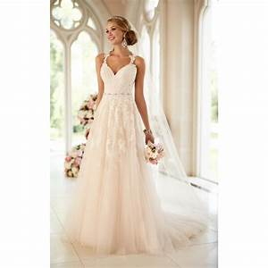 Stella york lace illusion back wedding dress wedding for Stella york lace wedding dress