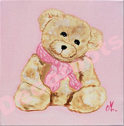 tableau chambre bébé fille tableau enfant bébé fille oursonne marche personnalisable
