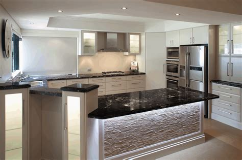 White Kitchen Cupboards With Black Countertops by Cosmic Black Granite Benchtops With White Cupboard Fronts