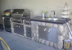Mode, Concrete, Outdoor, Kitchen, With, Professional, Solid