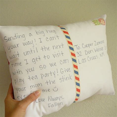 personalized postcard pillow