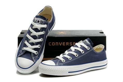 jual sepatu converse all blue navy low di lapak