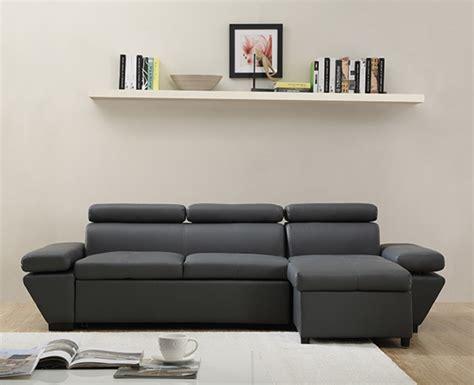 canapé casanova canapé d 39 angle à droite casanova gris anthracite