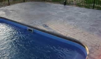Best Pool Waterline Tile by Pool Patio Materials Stamped Concrete Vs Pavers