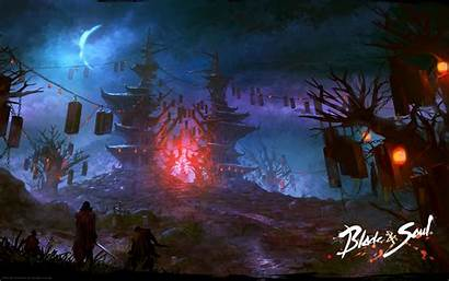Blade Soul Background Fantasy Temple Wallpapers Mmorpg