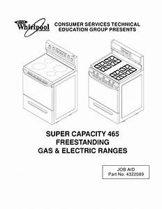 Whirlpool Sf385peg Service Manual