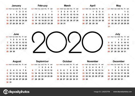 ano calendario modelo vetor simples modelo design