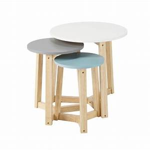 Table Basse Gigogne Maison Du Monde : 3 tables basses gigognes vintage tricolores l 30 cm l 50 cm trio maisons du monde ~ Teatrodelosmanantiales.com Idées de Décoration