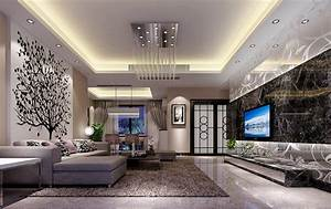 Mesmerizing ceiling designs for modern living room for Interior ceiling design for living room