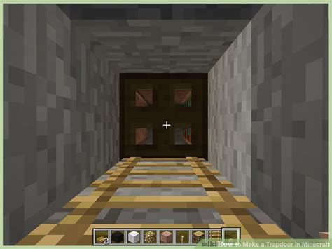 minecraft open trap door how to make a trapdoor in minecraft 6 steps with pictures