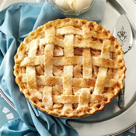 This recipe delivers a delicate balance of flavor and texture always season the pastry pie crust with salt and sugar. Lattice-Topped Apple Pie Recipe | Taste of Home