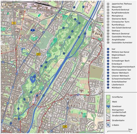 englischer garten münchen lageplan file karte englischer garten m 252 nchen png wikimedia commons