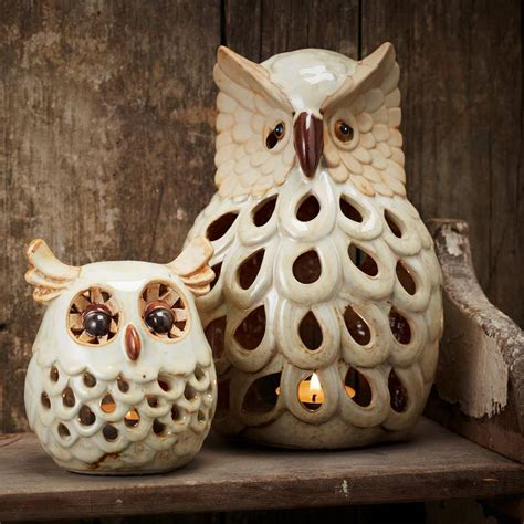 owl candle holder ceramic owl tea light holder by the contemporary home