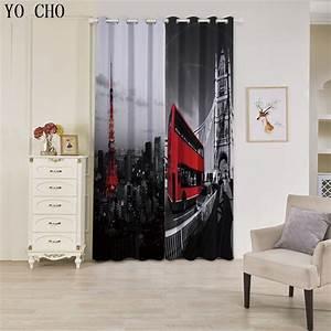 Rideaux Pour Salon Moderne : buy yo cho bus iron tower rideaux pour le salon moderne blackout curtains for ~ Teatrodelosmanantiales.com Idées de Décoration