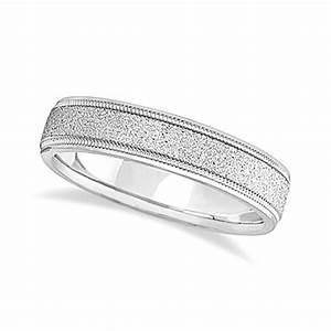 mens diamond cut carved wedding ring stone finish With mens palladium diamond wedding ring