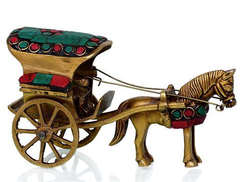 Purpledip Solid Pure Brass Vintage Horse Cart (Ghoda-gadi ...