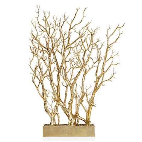 gold branch tree in pot potted plants trees floral plants trees decor z gallerie